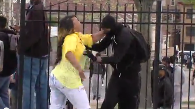 angry Baltimore mother