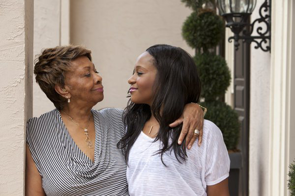 Cissy Houston and Bobbi Kristina