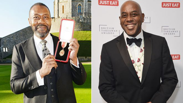 Lenny Henry and Ainsley Harriot