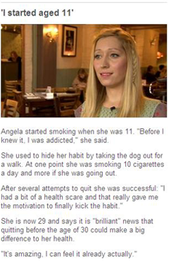 Cigarette Smoking Testimony