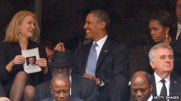 Barack Obama and Helle Thorning-Schmidt