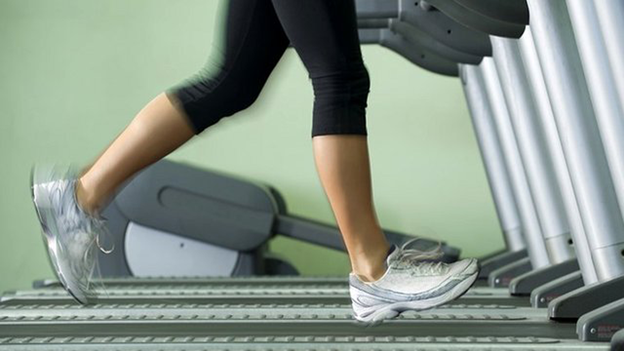 jogger on treadmill
