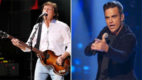 Paul McCartney Robbie Williams