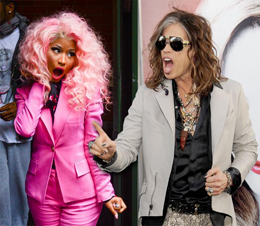 Nicki Minaj and Steve Tyler