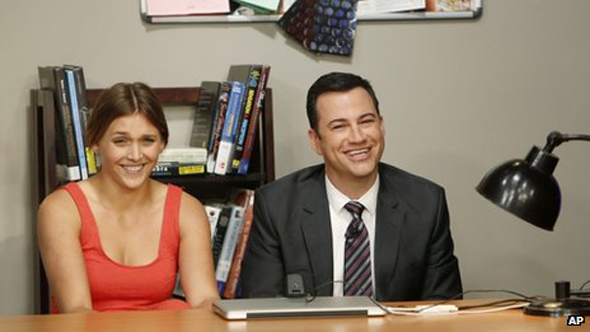 Jimmy Kimmel and Daphne