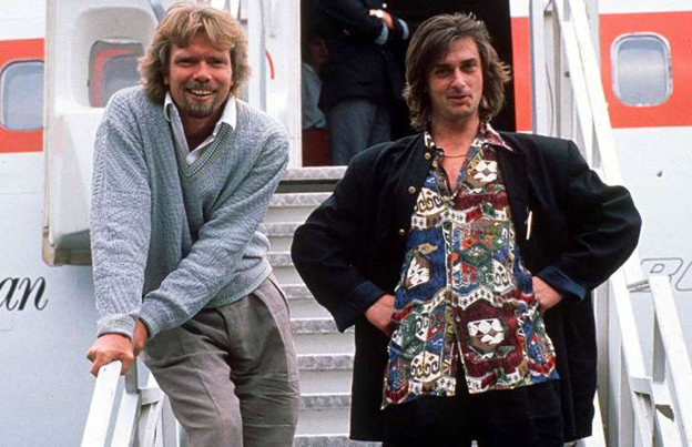 Mike Oldfield and Richard Branson