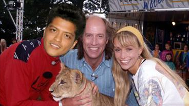 Bruno Mars Terry Nutkins and Michaela Strachan