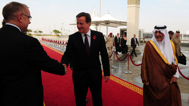 David Cameron and Prince Khalid