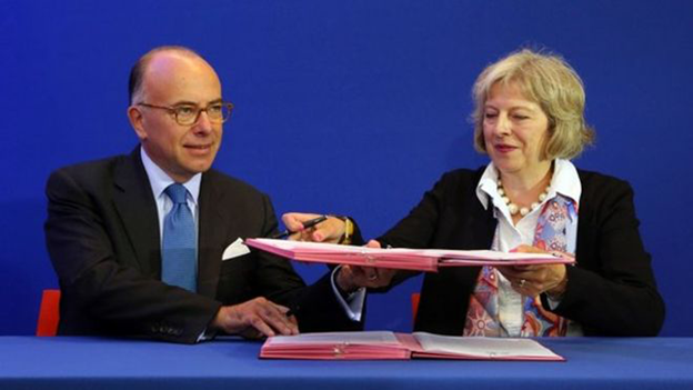 Bernard Cazeneuve and Theresa May