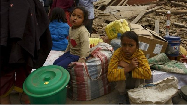 displaced Nepalese children