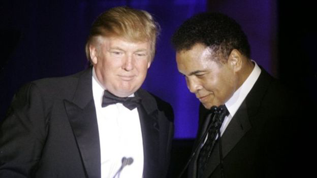 Donald Trump and Muhammad Ali