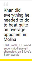 Amir Khan Froch quote