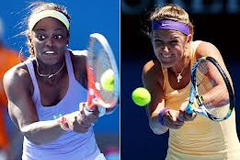 Sloane Stephens and Victoria Azarenka