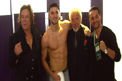 Nathan Cleverly and Tom Jones