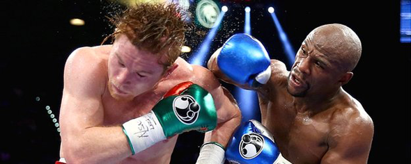 Floyd Mayweather and Saul Alvarez