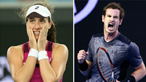 Johanna Konta and Andy Murray