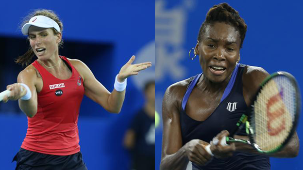 Johanna Konta and Venus Williams