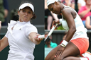 Laura Robson and Serena Williams