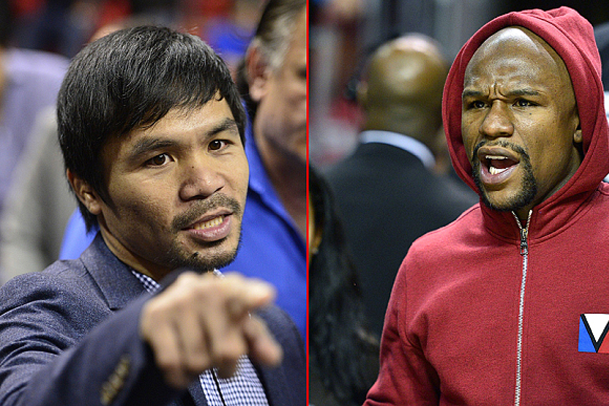 Manny Pacquio and Floyd Mayweather