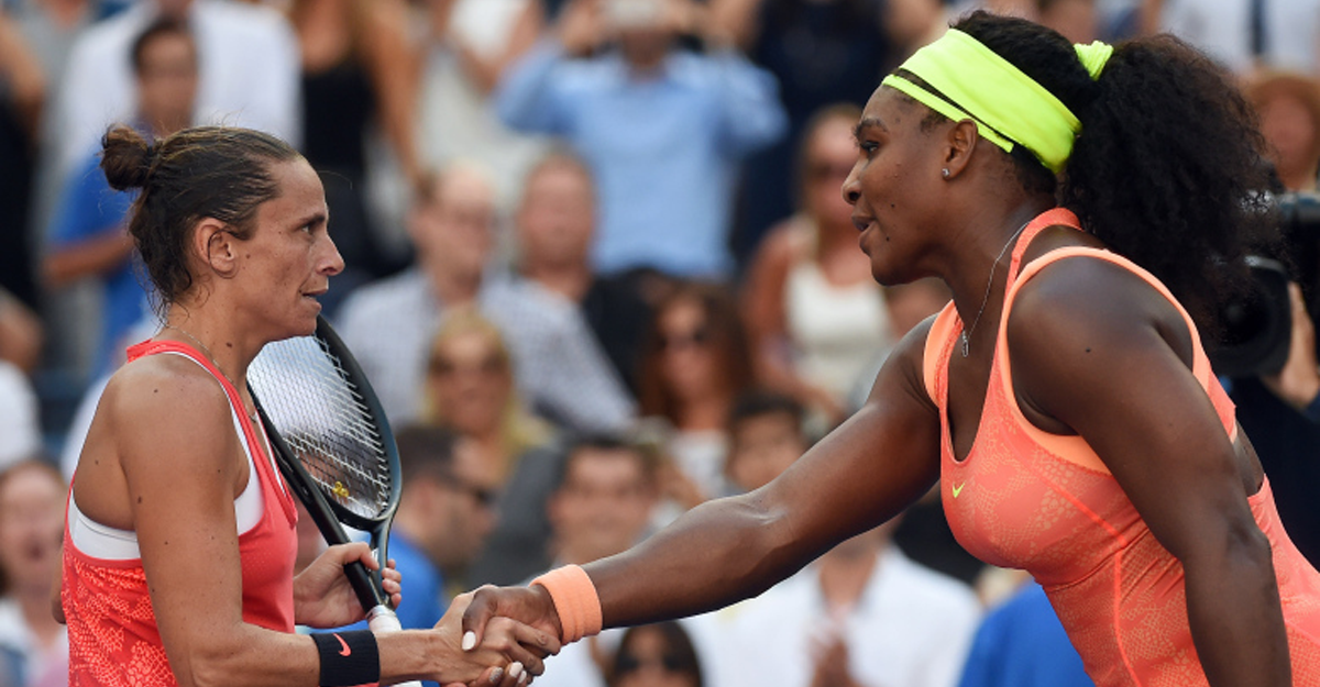 Serena Williams and Roberta Vinci