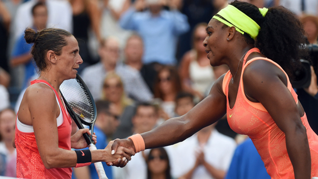 Roberta Vinci and Serena Williams