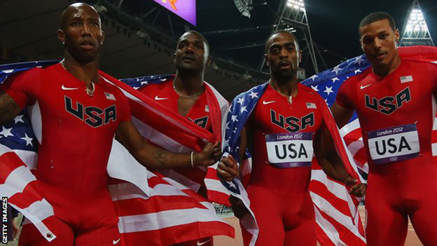 2012 US 100m relay team